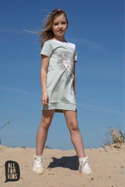 Bavlnená dievčenský tunika