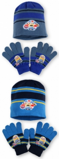 Chlapčenský  zimný set MIMOŇ 780318 modročierny