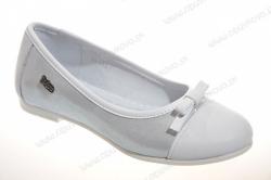 Kožené dievčenské balerínky  RENBUT 33-4295 biele