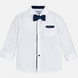 Chlapčenská košeľa s motýlikom MAYORAL 4138-094 White