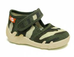 Chlapčenské papučky RENBUT 13-112 army