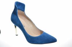 Dámske kožené lodičky NESCIOR 092-L modré