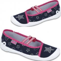 Dievčenské plátené papuče BEFADO  116Y246