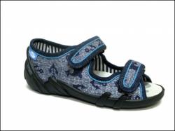 Chlapčenské papučky  sandálky RENBUT 23-378 modrá kotva