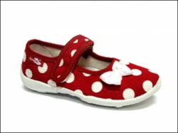 Detská domáca obuv RENBUT 33-415 červené