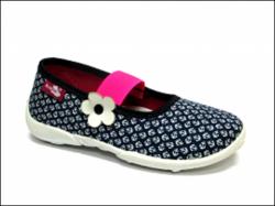 Textilné dievčenské papuče RENBUT 414 modrá kotva