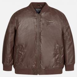 MAYORAL chlapčenský kožený kabát 7482-011 brown