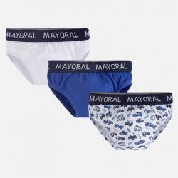Mayoral spodné prádlo - slipy 3ks  10362-024 blue