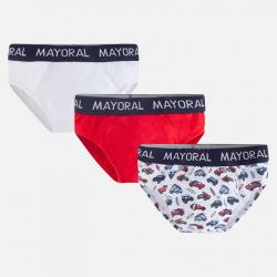 Mayoral spodné prádlo - slipy 3ks  10362-025 cherry