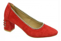 OLIVIA shoes červené celokožené lodičky DLO027