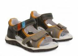 DD STEP celokožené letné sandále K330-4000B grey