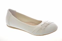 Biele dievčenské balerínky 3048-5 white