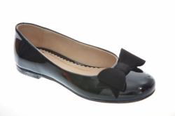 Kožené dievčenské balerínky  RENBUT 33-4357 čierne