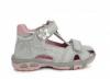 Dievčenské sandále kožené  D.D.STEP AC290-7002M white