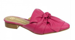 OLIVIA shoes ružové celokožené šľapky DSL063
