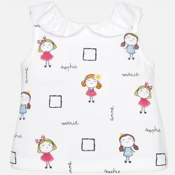 MAYORAL  dievčenské  tričko 1032-091 Fuchsia