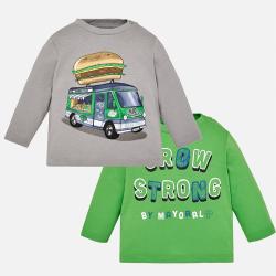 MAYORAL chlapčenské 2 pack tričká 2026-086 bio green