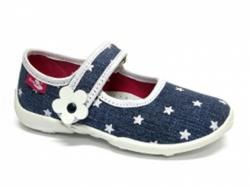 12f1ea2cb3bda Detská domáca obuv RENBUT 33-415 modrá hviezda