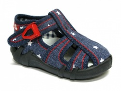 d4b073821 Chlapčenské papučky RENBUT 102 jeans hviezda