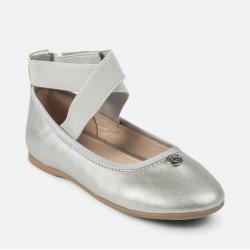 MAYORAL dievčenské balerínky 43865+45865+47865-076 Silver