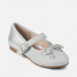 MAYORAL dievčenské balerínky 43867-081 Silver