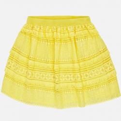 MAYORAL dievčenská sukňa 6910-079 Lemon