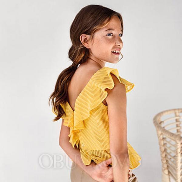 MAYORAL dievčenský top - blúza 6175-025 mustard