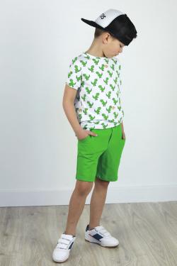 Chlapčenské bavlnené krátke nohavice BASIC