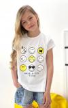 Dievčenské tričko krátkym rukávom Smile