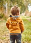 MAYORAL chlapčenská mikina s kapucňou 2425-057 ochre