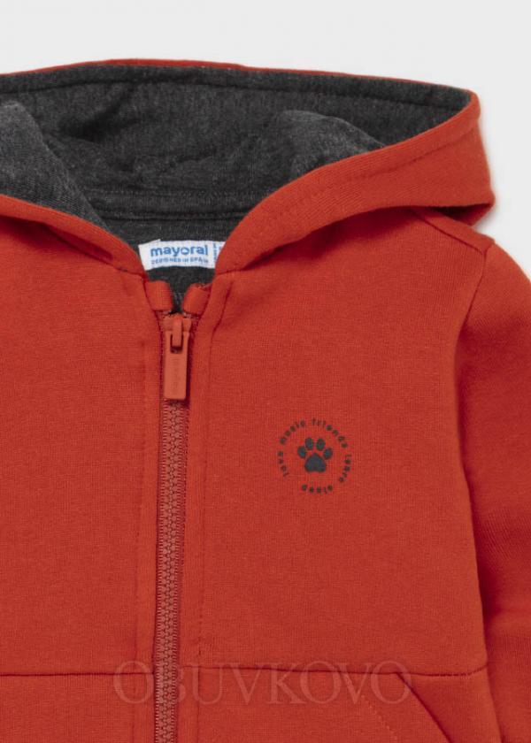 MAYORAL chlapčenská mikina s kapucňou 2425-058 orange