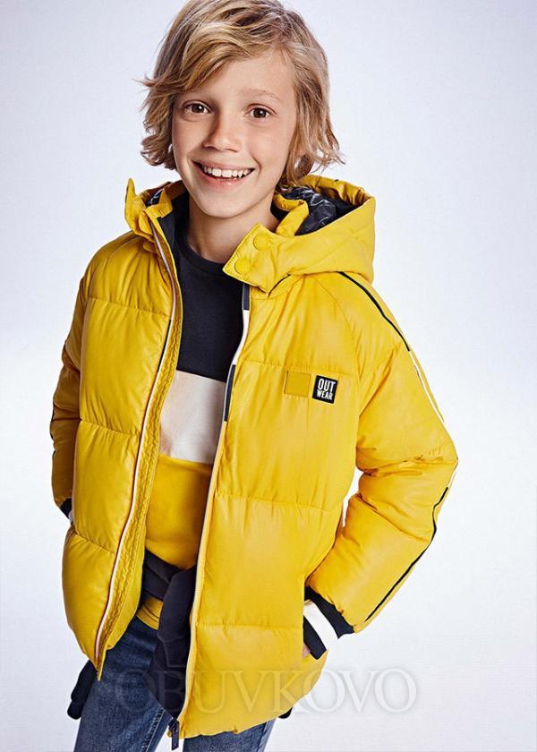 Zimná bunda s kapuňou MAYORAL 7416-010 gold