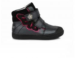 Kožená dievčenská obuv D.D.STEP 049-940 black