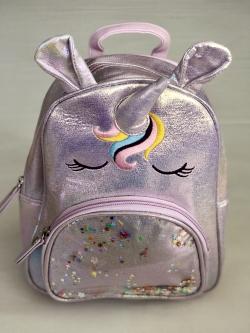 Dievčenský metalický batoh UNIKORN
