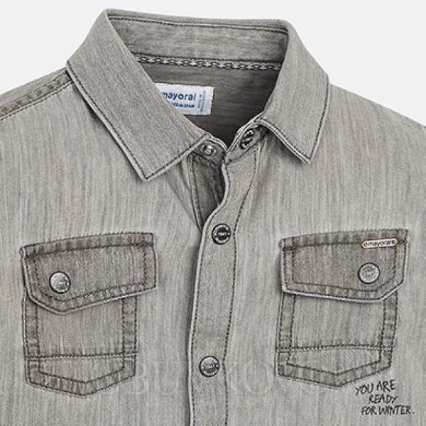 MAYORAL chlapčenská košeľa 4152-038 grey