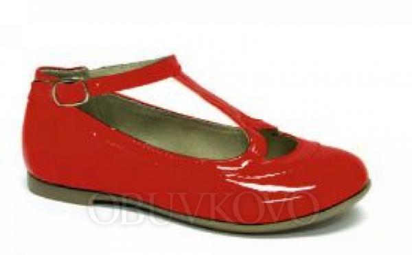 Lakované dievčenské balerínky  RENBUT 23-3301 červené