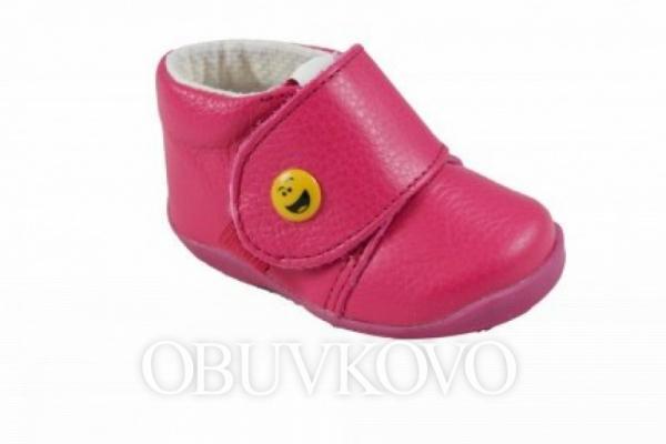 Kožená detská obuv WANDA 292929 fuxia