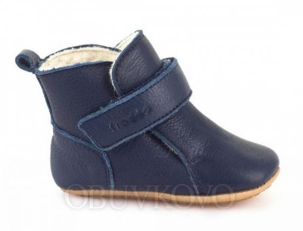 Prewalkers kožené capačky zimné FRODDO G1160001 dark blue