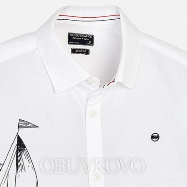 MAYORAL chlapčenská košeľa 6125-085 white
