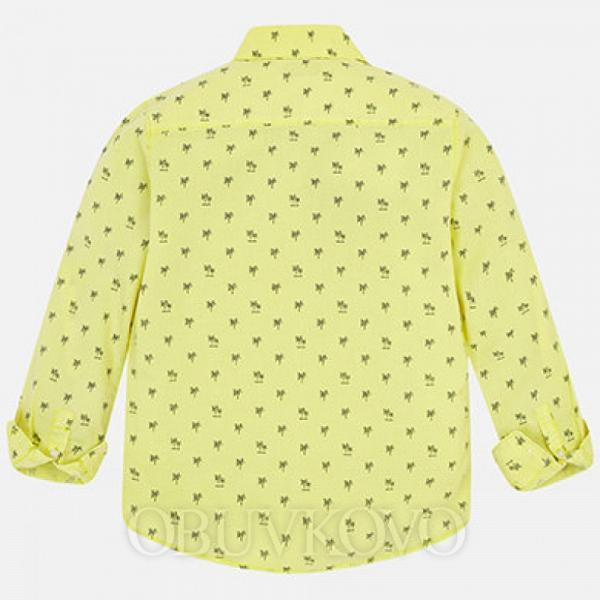 MAYORAL chlapčenská košeľa 6134-086 limo