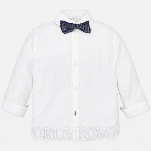 Chlapčenská košeľa s motýlikom MAYORAL 3139-063 White