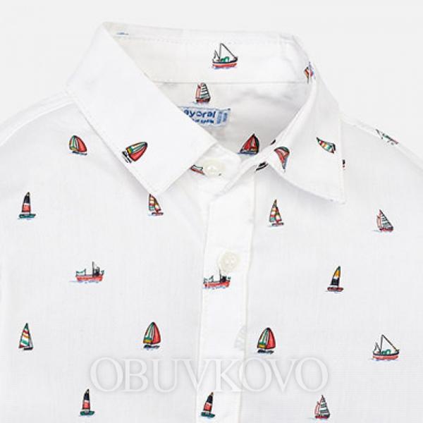 MAYORAL chlapčenská košeľa 3137-078 boats