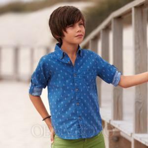 MAYORAL chlapčenská košeľa 6134-087 aqua