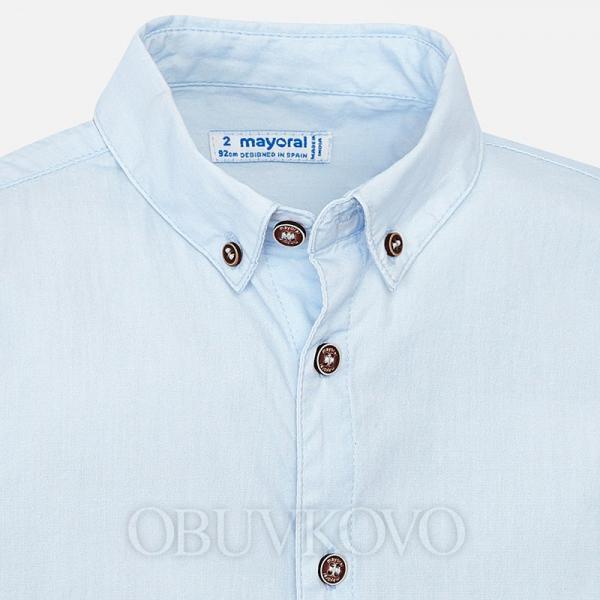 MAYORAL chlapčenská košeľa 3136-083 Sky
