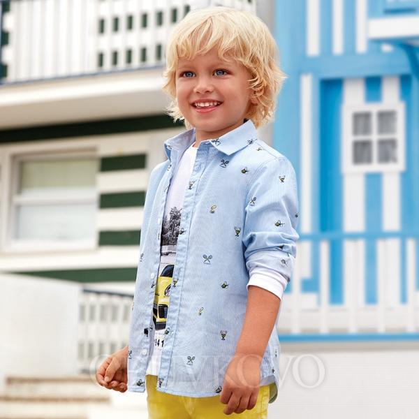 MAYORAL chlapčenská košeľa 3137-079 Tennis