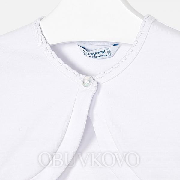 MAYORAL  dievčenské bavlnené bolero 3402-048 White