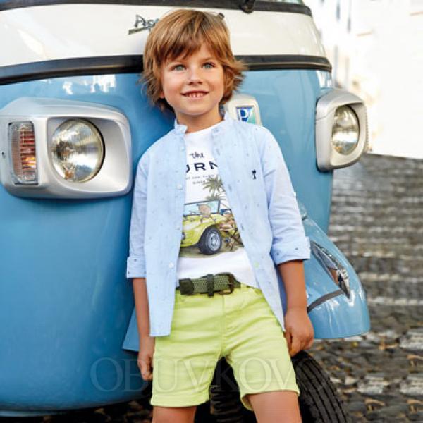 MAYORAL chlapčenské krátke nohavice 3230-011 Neon yello