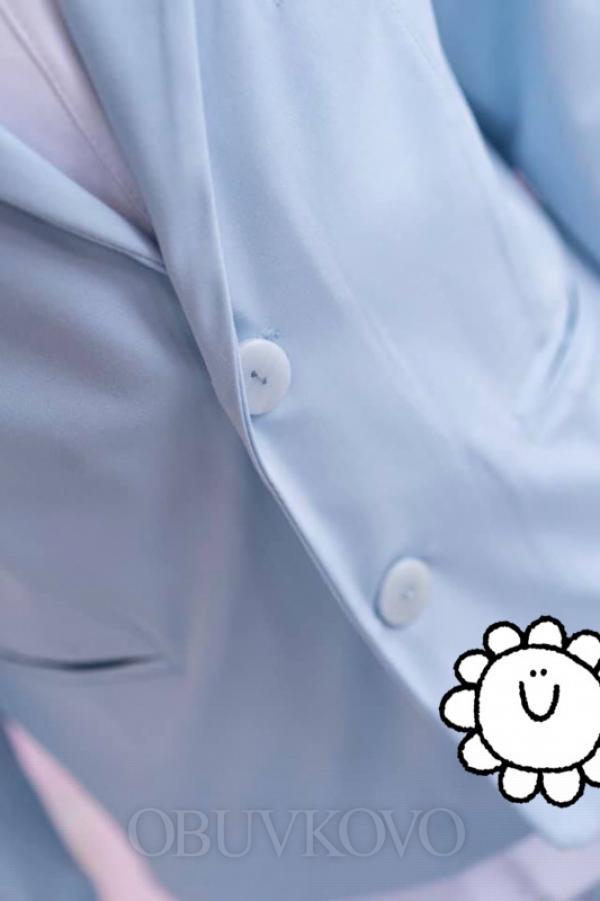Chlapčenské bavlnené sako MM 9 light blue