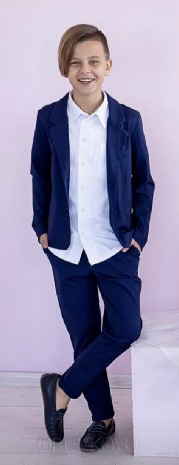 Chlapčenské bavlnené sako MM 9 dark blue
