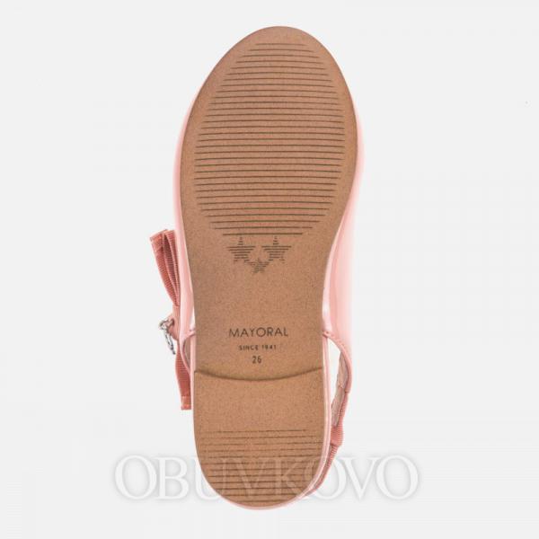 MAYORAL dievčenské balerínky 43033+45033-095 salmon